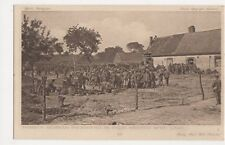 WW1, Thirsty German Prisoners in Barbed Wire Cage, Daily Mail 38 Postcard, B128