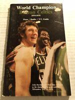 1974 75 BOSTON CELTICS Media Guide Yearbook JOHN HAVLICEK Paul SILAS Dave COWENS