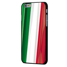 Coque noire iPhone 6 impression drapeau Italie