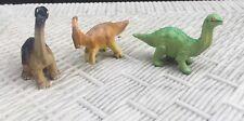 "2"" Safari Ltd. Parasaurolopus, Brachiosaurus And Brontosaurus- Plastic Dinosaurs"