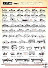 Preisliste, Wiking Automodelle, 1978/79