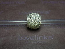 ** Genuine Lovelinks * WHITE CLEAR CZ BALL Silver Charm **