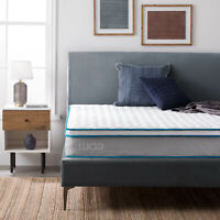 LUCID Nimble 9 inch Innerspring and Memory Foam Mattress - Twin Full Queen King