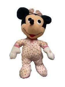 Vintage 80s Toy Baby Minnie Mouse Preshool Plush Stuffed Softies Hasbro 1983
