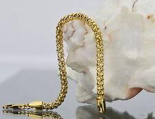 Damen Herren Armband Kugelkette 19 cm x 3 mm 750 Gold /18K vergoldet 1562