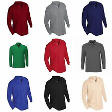 Cotton Y Neck Patternless Long Sleeve T-Shirts for Men