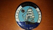 1990 PIN MEDAL LIONS CLUB INTERNATIONAL CONNECTICUT MD23 MORGAN WHALER SHIP LOOK