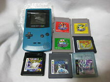 Game Boy Color & Lot 8 Pocket Monster Set Nintendo Video Game Japan GBC Pokemon