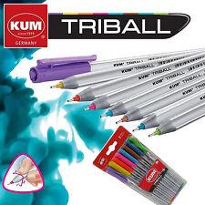 KUM Fineliner / Rollerball Triball 8Stifte / 8Farben ergonomische Dreikantform