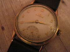 vintage mens RECORD watch in 9k solid yellow gold