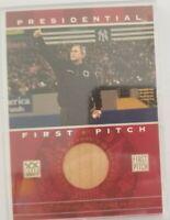 George W. Bush 2002 Topps Presidential First Pitch Yankee Stadium Seat !!!