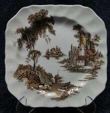 "Johnson Brothers The Old Mill Square Salad Plate 7 3/4"" Multi-Color"