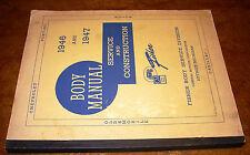 1946 1947 FISHER Body Service Manual Buick Oldsmobile Cadillac Pontiac ORIGINAL