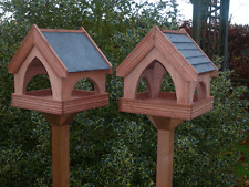 SLATE ROOF Country Cottage Bird Table/ Bird Feeder. PREMIER VERSION