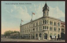 Postcard MODESTO California/CA I Street Business Storefronts w/Clock Tower 1907?