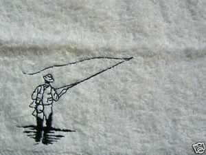 Personalised fly fishing towel, other designs & items in my shop, £6.99 inc  P&P