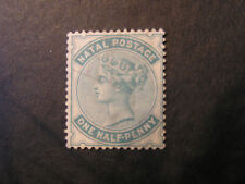 NATAL, SCOTT # 64, 1/2p VALUE BLUE GREEN QV 1880 ISSUE USED