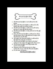 "Brussels Griffon ""Rules"" Dog Art Print - Matted"