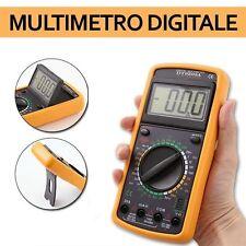 TESTER MULTIMETRO DIGITALE PROFESSIONALE SONDA ELETTRONICO LCD PUNTALI