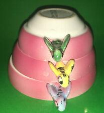 Vtg Menschik Goldman PINK BEEHIVE MEASURING CUPS Japan Ceramic Stackable 3 Sizes