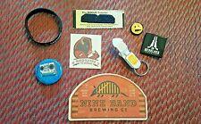 BEER SWAG - PINS, BRACELET, BOTTLE OPENER, MUSTACHE, COASTER, AND TATTOO