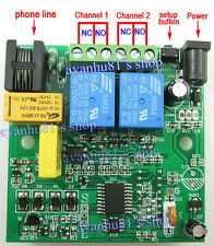 12V Phone Telephone Line Mobile Remote Control Access Relais Board Switch ON/OFF