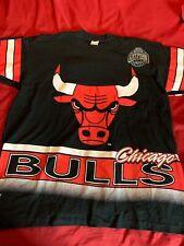 Chicago Bulls Nbap Salem Sportswear Vtg 90s Double Sided T Shirt Mens XL