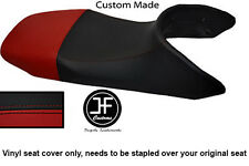 BLACK AND DARK RED VINYL CUSTOM FITS HONDA TRANSALP XL 650 SEAT COVER ONLY