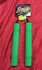Green Foam Ninja Nunchaku Great For Pretend Play Training Light Weight