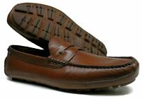 Men's H.S. Trask® PS 30-90001 Penny Loafer, Slip-On Brown Shoes Size 10 M