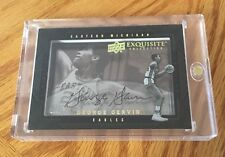 GEORGE GERVIN 2011 Upper Deck EXQUISITE Collection Shadowbox AUTOGRAPH