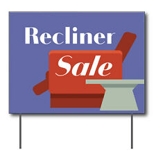 """Recliner Sale Curbside Sign, 24""""w x 18""""h, Full Color Double Sided"""
