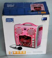 The Singing Machine Portable CD & Graphics Karaoke System Pink SML383P NEW