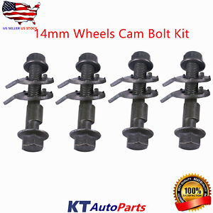 14MM FRONT LEFT & RIGHT CAMBER ALIGNMENT ADJUSTABLE CAM BOLTS KIT (4 Bolts)