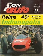 SPORT AUTO 18 1963 24H DU MANS 500 MILES D'INDIANAPOLIS 1000KM DU NURBURGRING GP