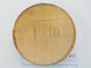 One Large English Sweet Chestnut woodturning or carving bowl blank. 50mm thick
