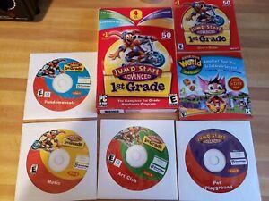 Jump Start Advanced First 1st Grade PC CD-ROM 4 CD Set Educational Software