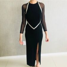 Lillie Rubin Vintage NWT Evening Formal Gown Slit Long Sleeve Womens Size Small