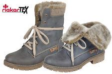 Rieker Tex Damen Boots Blau Grau Winter Stiefel Schuhe gefüttert Y9122-45  NEU 85bf7f2f0d