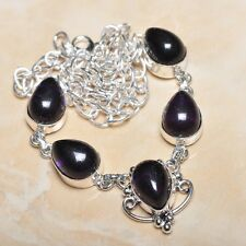 hecho a Mano Elegante Amatista violeta plata de ley 925 Collar 49.5cm n00474