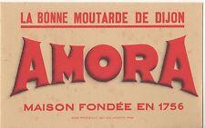 Ancien Buvard AMORA Moutarde de Dijon
