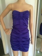 Supre Violet Purple Satin Figure Hugging Mini Dress