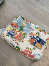 Vintage 1988 Nintendo Super Mario Link Zelda Characters Bed Cover Blanket