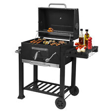More details for portable bbq barbecue grill trolley barbecue patio outdoor garden heating smoker