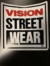 "Vintage BMX Skateboard Halfpipe Ramp Sticker Vision Street Wear HUGE 8""X8"" 80s"