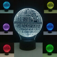 Star Wars Death Star 3D Light Touch Table lamp 7 Color Changing