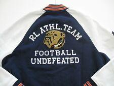 POLO RALPH LAUREN Men's Fleece Bulldog Patch Varsity Letterman Jacket XL