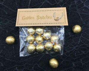 Harry Potter Inspired Golden Snitches Novelty Sweets Birthday Party Christmas