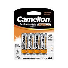 PROMO : 4 Accus Piles rechargeables AA/LR6 2700mAh CAMELION + boite de rangement