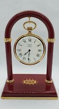 Halcyon Days Enamels - Pocket Watch with Burgundy Stand New in Original Boxes